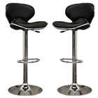 Orion Black Adjustable Height Swivel Bar Stool