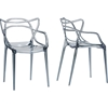 Electron Plastic Dining Chair - Smoke Gray (Set of 2)