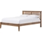 Loafey Wood Platform Bed - Walnut Brown - WI-SW8028-WALNUT-M17-BED