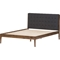 Clifford Platform Bed - Grid-Tufting Headboard - WI-SW8065-BED-WALNUT-M7