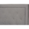 Paris Upholstered Twin Tufted Bed - Gray - WI-WA1212-TWIN-GRAY