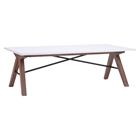 Saints Coffee Table - Walnut and White