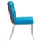 Hope Dining Chair - Tufted, Blue and Gray - ZM-100239