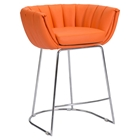 Latte Backless Counter Chair - Orange