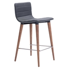Jericho Counter Chair - Backless, Gray