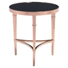 Elite Side Table - Rose Gold and Black