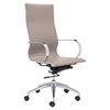 Glider High Back Office Chair - Taupe