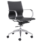 Glider Low Back Office Chair - Black