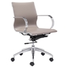 Glider Low Back Office Chair - Taupe