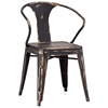 Helix Armchair - Steel, Antique Black Gold