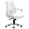 Enterprise Low Back Ribbed Office Chair - Chrome Steel, White