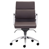 Engineer Low Back Office Chair - Casters, Espresso