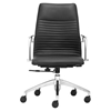 Lion Low Back Office Chair - Black