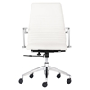 Lion Low Back Office Chair - White