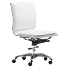 Lider Plus Armless Office Chair - White