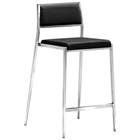 "Dolemite 26"" Counter Stool - Stainless Steel, Black"