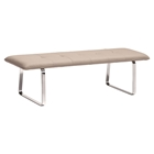 Cartierville Bench - Tufted, Taupe