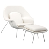 Nursery Chair and Ottoman - White