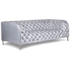 Providence Tufted Sofa - Chrome Steel, Silver